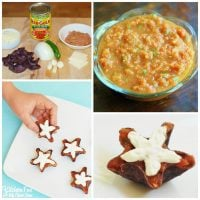The BEST Canned Tomato Salsa with Patriotic Star Appetizer Snacks!