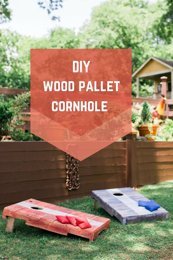 DIY Pallet Cornhole...these Are The BEST Backyard Game Ideas For Kids U0026 Pictures