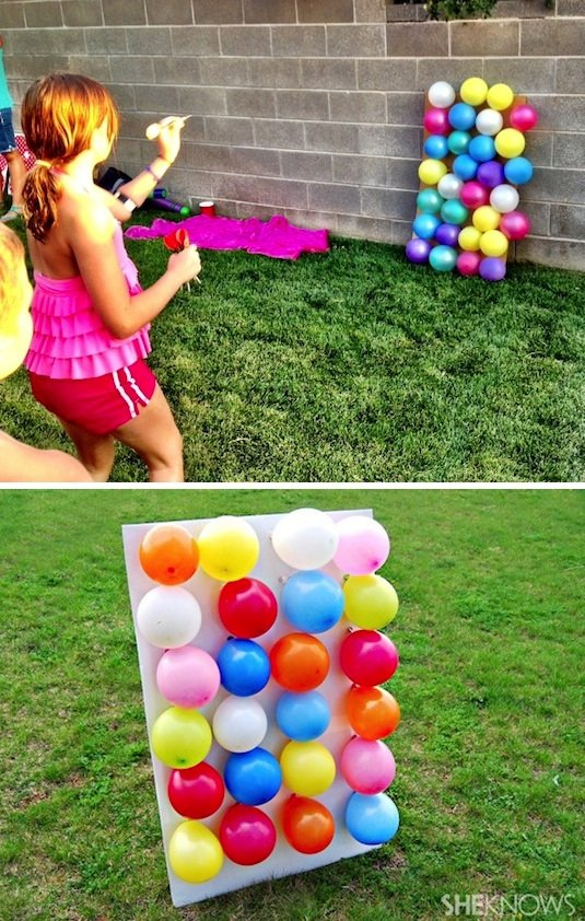 Fill Balloons with Numbers to match with Prizes...these are the BEST Games for Kids & Adults!