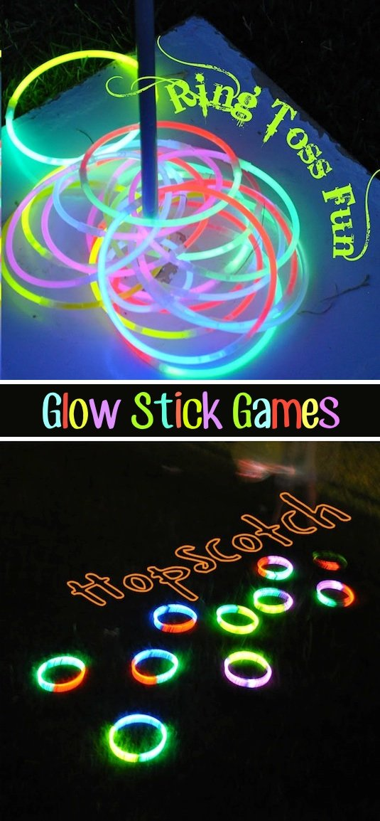 Glow in the Dark Ring Toss & Hopscotch...these are the BEST Backyard Games for Kids & Adults!