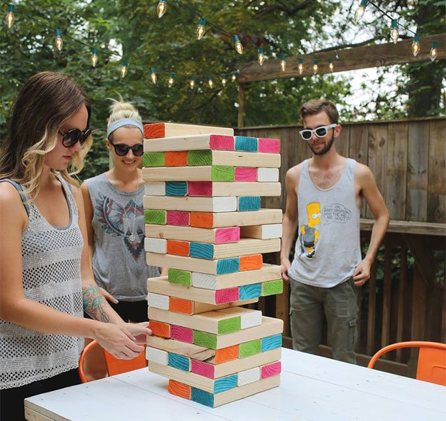 DIY Outdoor JJnga...these are the BEST Backyard Games for Kids & Adults!