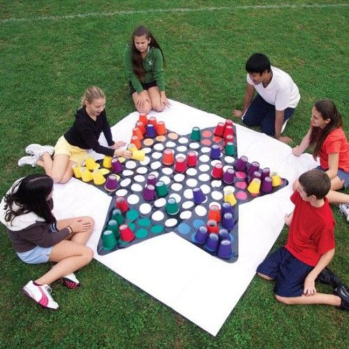 Giant Chinese Checkers Using Cups...these Are The BEST Backyard Game Ideas  For