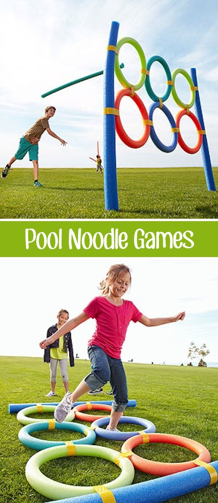 Pool Noodle Games...these are the BEST Backyard Games for Kids & Adults!