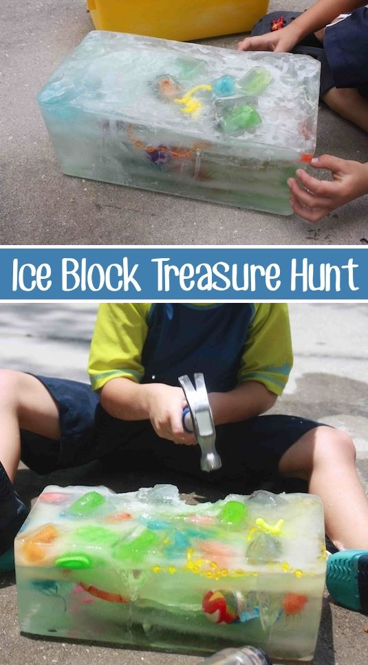 Ice Block Treasure Hunt....over 30 of the BEST DIY Backyard Games for Kids & Adults!