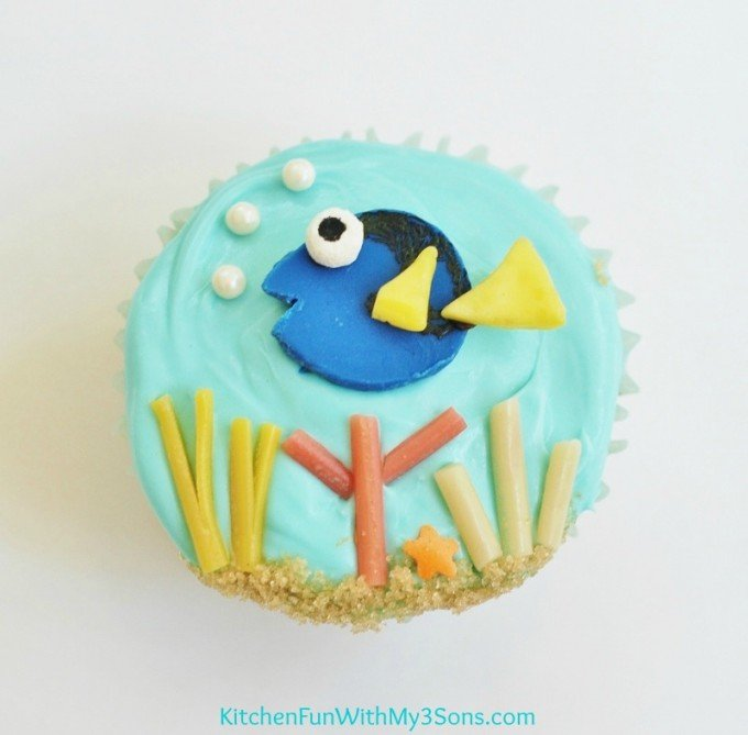 Easy Finding Dory Cupcakes Kitchen Fun With My 3 Sons