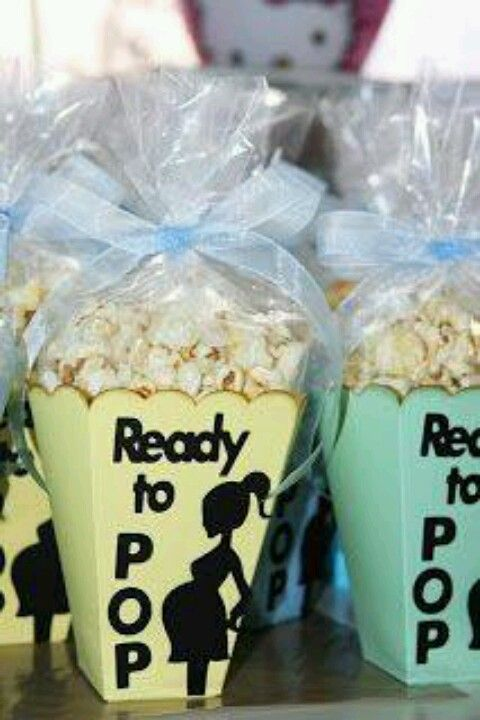Ready to Pop Popcorn Snacks...these are the BEST Baby Shower Ideas!