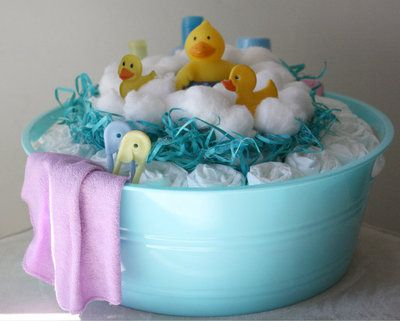 Baby Bath Time Diaper Cake...these Are The BEST Baby Shower Ideas!