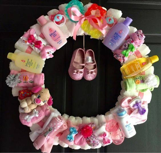 diaper wreath these are the best baby shower ideas