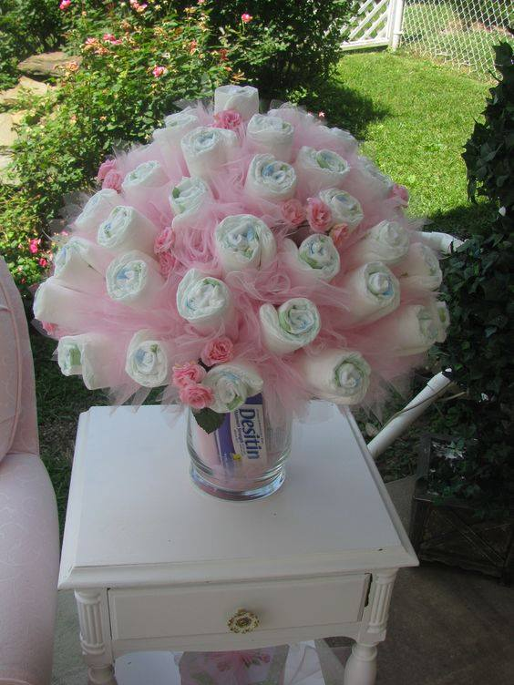 30 of the best baby shower ideas kitchen fun with my 3 for Baby shower decoration diaper cake