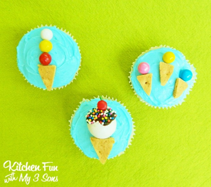 Easy Ice Cream Cupcakes...these are the BEST Cupcake Ideas!