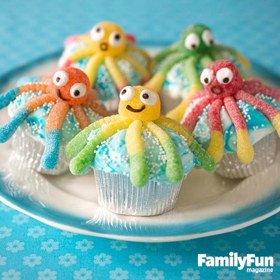 Under the Sea Octopus Cupcakes from Family Fun