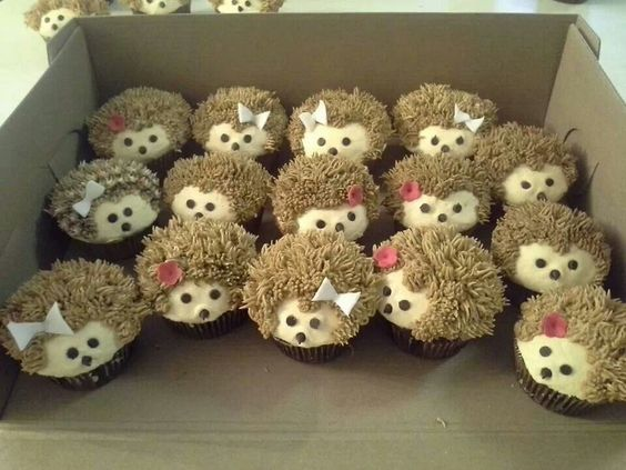Hedgehog Cupcakes...these are the BEST Cupcake Ideas!