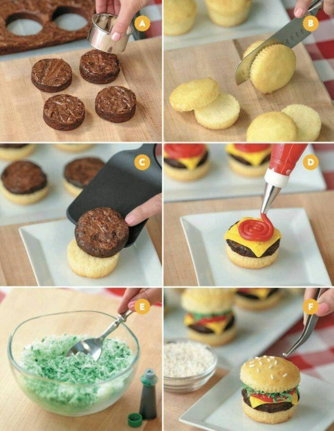 Easy Cheeseburger Cupcakesthese Are The BEST Cupcake Ideas
