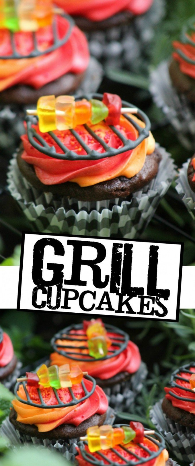 Summer BBQ Grill Cupcakes...these are the BEST Cupcake Ideas!