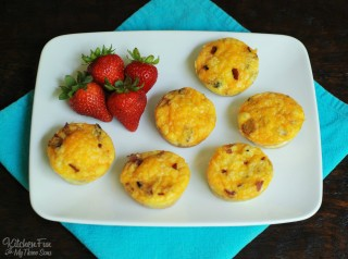 Bacon, Toast, Egg and Cheese Muffins for Back to School!