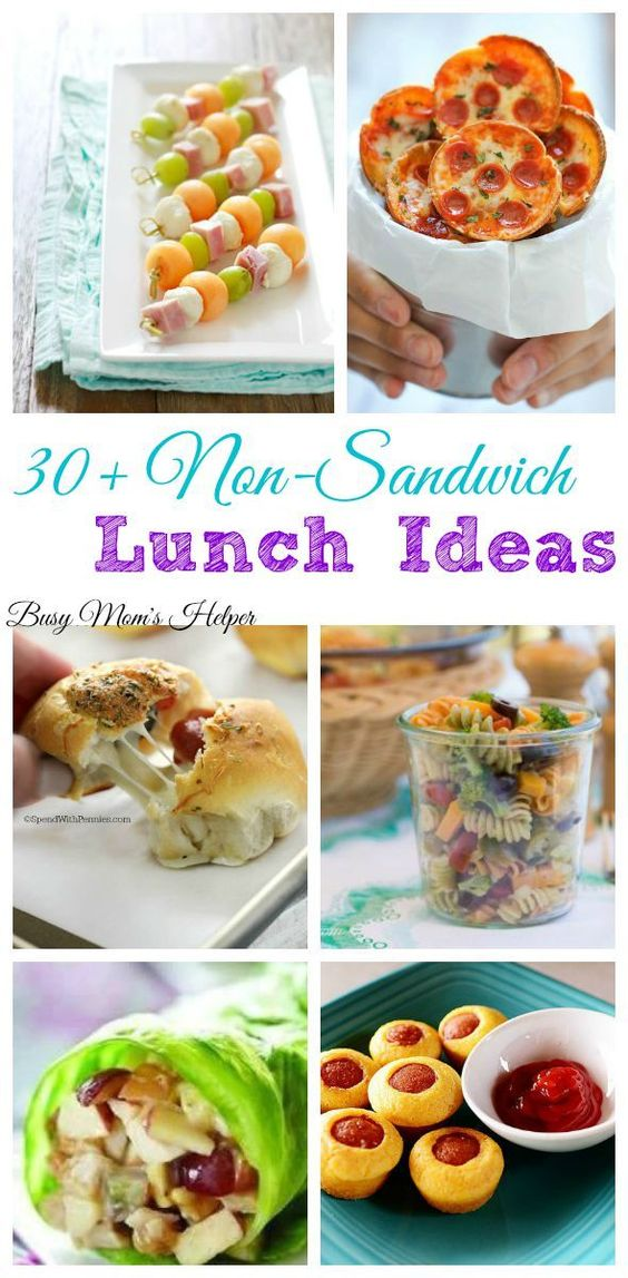 30 Non-Sandwich Lunch Ideas...these are the BEST Back to School Lunch Ideas for Kids!