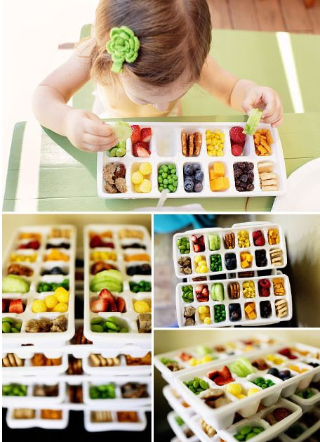 Toddler Ice Cub Tray Lunch....these are the BEST Back to School Lunch Ideas for Kids!