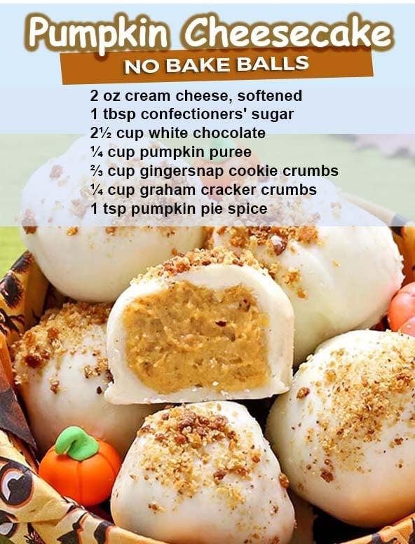 Pumpkin Cheesecake Balls