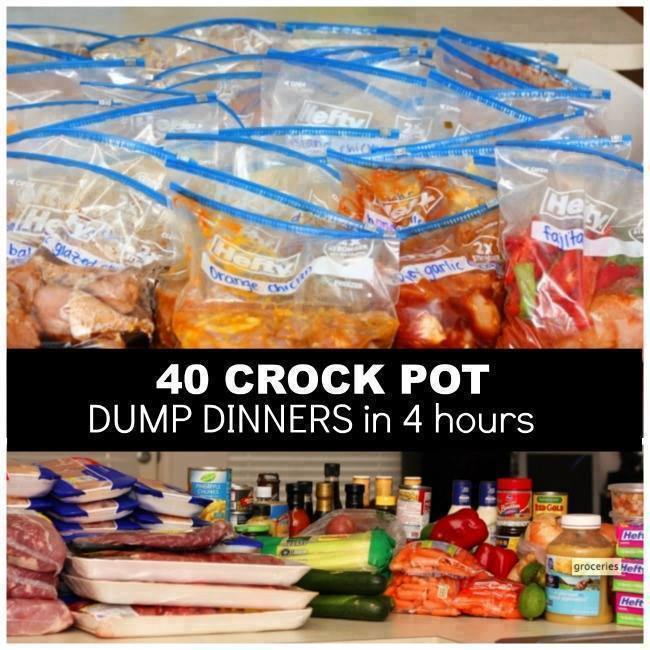 40 Crock Pot Dinners in 4 Hours