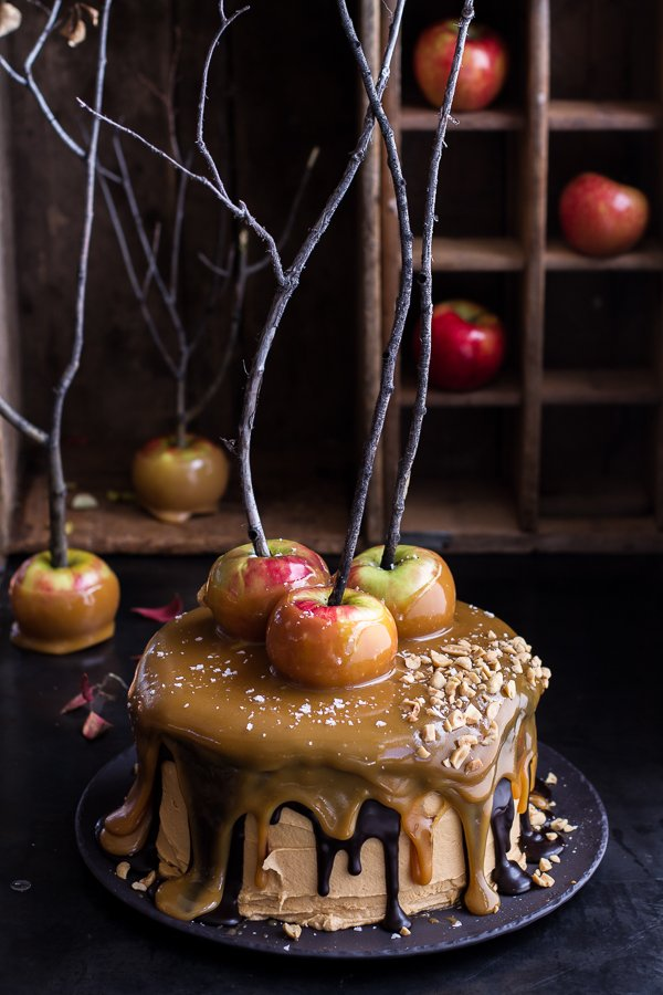 Salted Caramel Apple Snickers Cake....these are the BEST Fall Dessert Recipes!