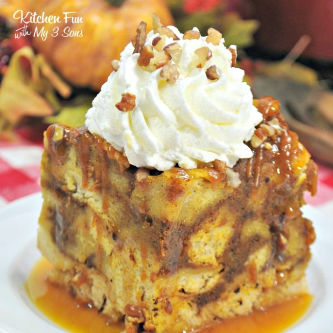 Slow Cooker Pumpkin Maple French Toast