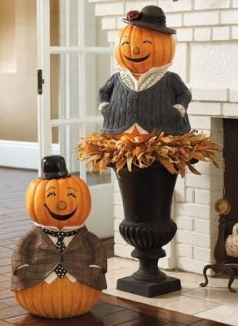Pumpkin People Fall Decorating Ideas