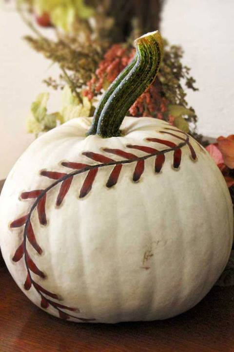 Baseball Pumpkin