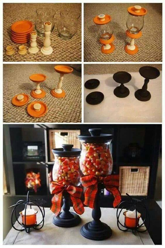 DIY FALL CANDY CORN APOTHECARY JARS