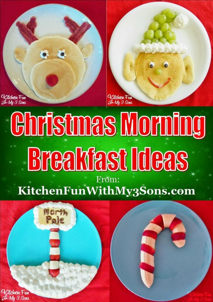 Christmas Morning Breakfast...your Kids will love these fun Pancake Ideas for the Holidays!