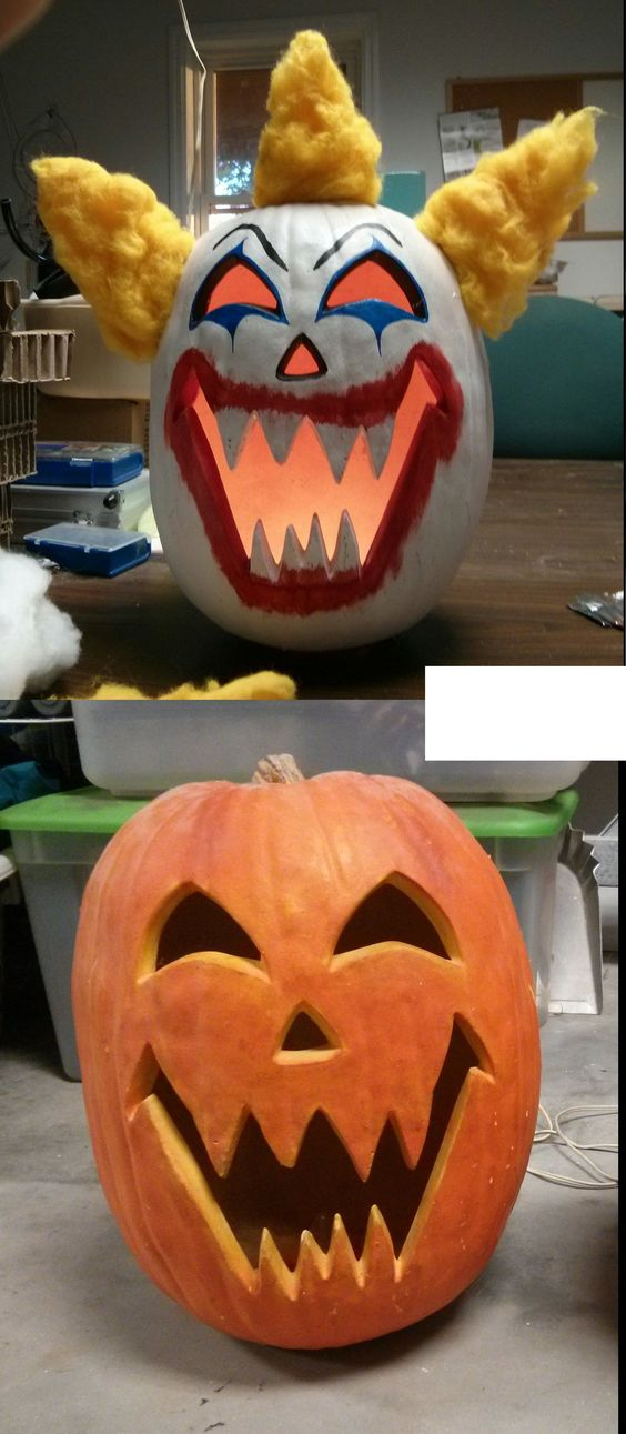 Halloween Clown Pumpkin