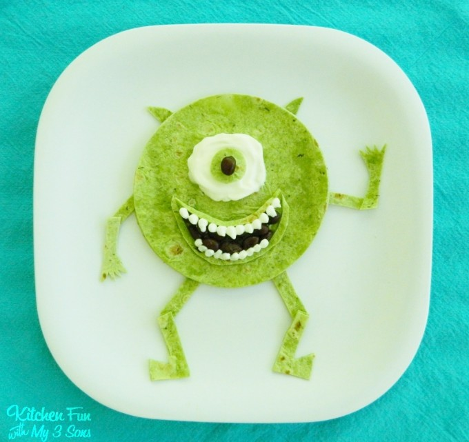 Disney's Monsters Inc Mike Wazowski Quesadilla Mexican Dinner for Kids!