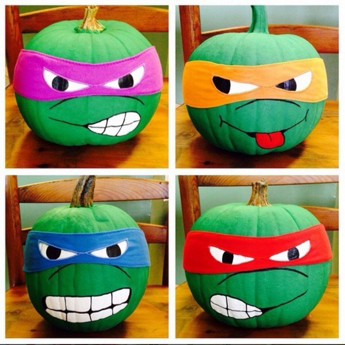 TMNT Pumpkins...your little Teenage Mutant Ninja Turtle fans will love this!