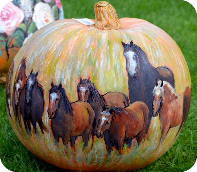 painted horses pumpkin the best diy carved decorated for halloween