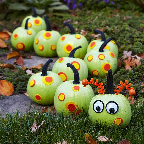 caterpillar pumpkinsthese are the best diy carved decorated pumpkin ideas for - Pumpkin Decoration