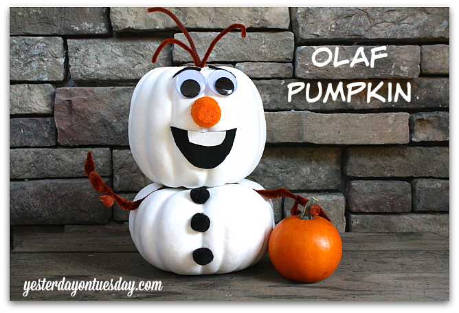 Frozen Olaf Pumpkin...these are the BEST Carved & Decorated Pumpkin Ideas for Halloween!