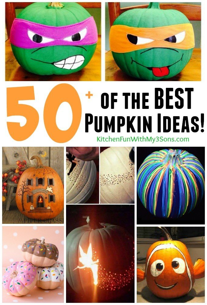 Over 50 of the BEST Carved u0026 Decorated Pumpkin Ideas!  sc 1 st  Kitchen Fun With My 3 Sons & 50+ of the BEST Pumpkin Decorating Ideas - Kitchen Fun With My 3 Sons