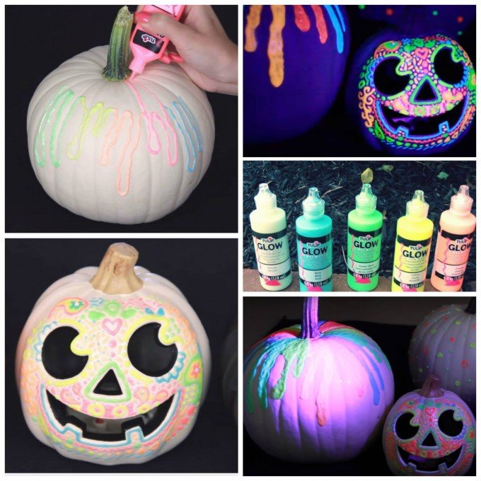 Glow In The Dark Pumpkins These Are Best Diy Carved Decorated