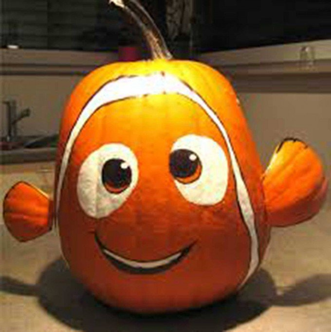 finding nemo pumpkinthese are the best carved decorated pumpkin ideas for - Pumpkins Decorations
