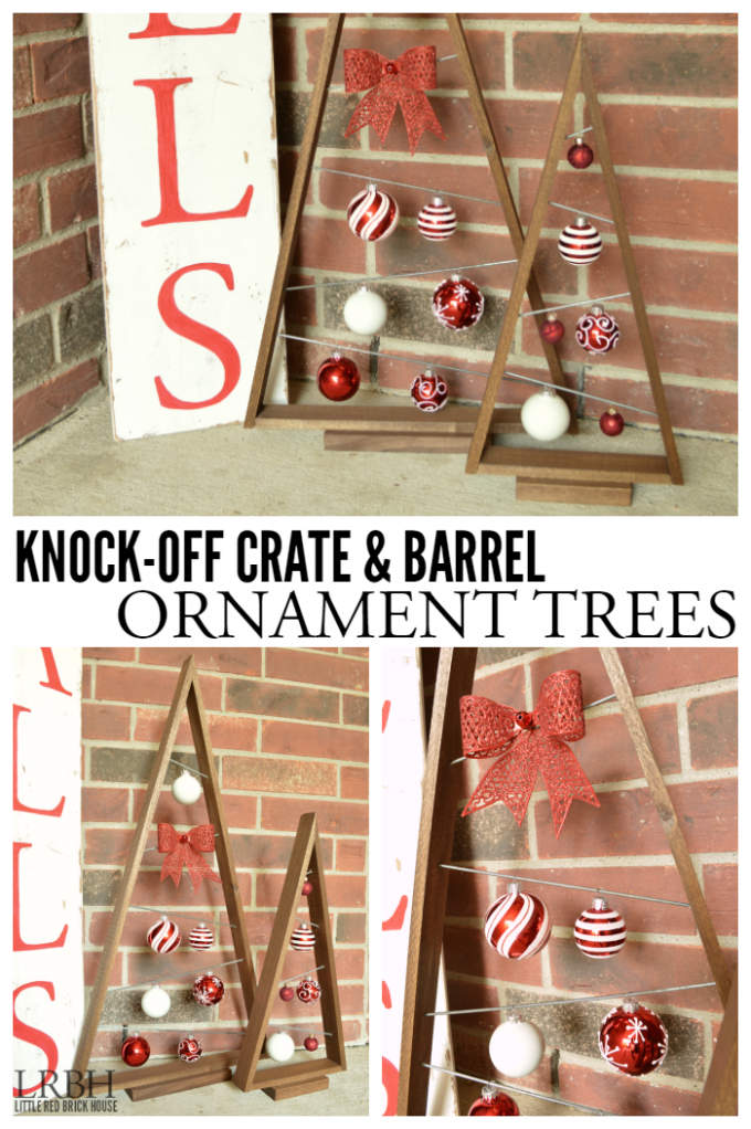 Knock-Off Crate & Barrel Ornament Trees...these are the BEST DIY Christmas Decorations & Craft Ideas!