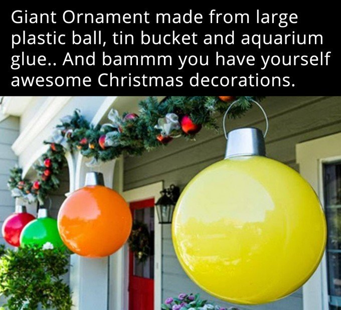 giant ball ornamentsthese are the best diy christmas decorations craft ideas
