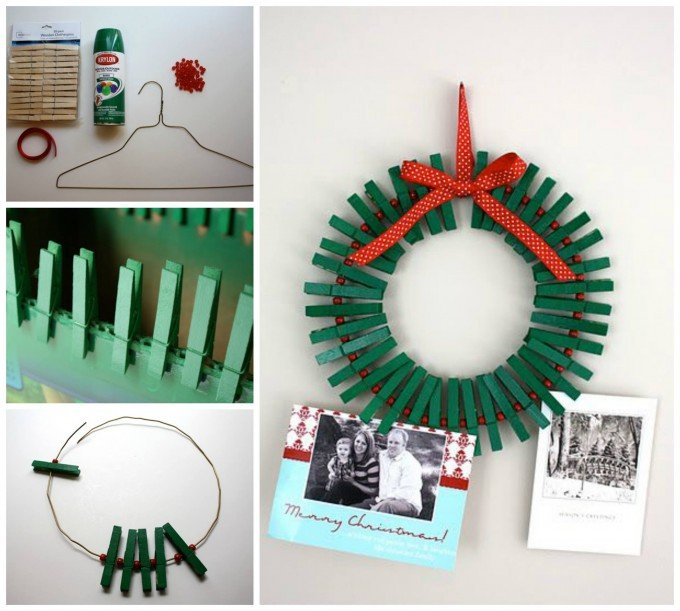 easy christmas card holderthese are the best diy holiday decorations craft - Christmas Decoration Crafts