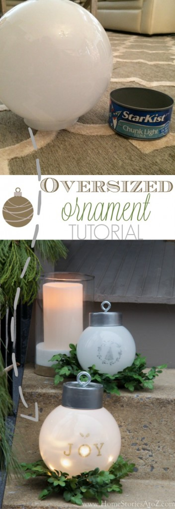DIY Oversized Ornaments...these are the BEST Homemade Christmas Decorations & Craft Ideas!