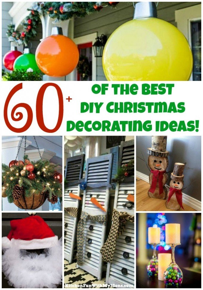 60 of the best diy christmas decorations kitchen fun with my 3 sons over 60 of the best diy christmas decorations craft ideas solutioingenieria Choice Image