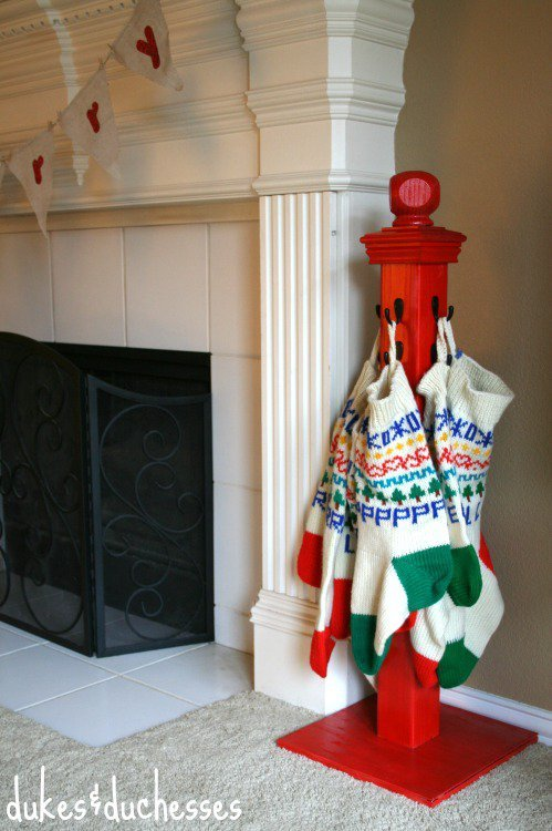 DIY Stocking Holder....these are the BEST Homemade Decorations & Craft Ideas!