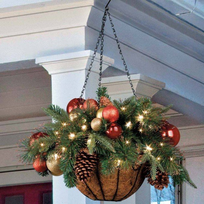 hanging christmas potsthese are the best diy christmas homemade decorations craft - Christmas Basket Decoration Ideas