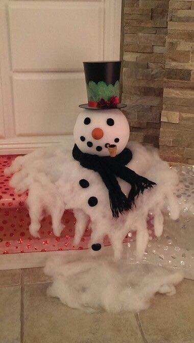 Melted Snowman Decoration