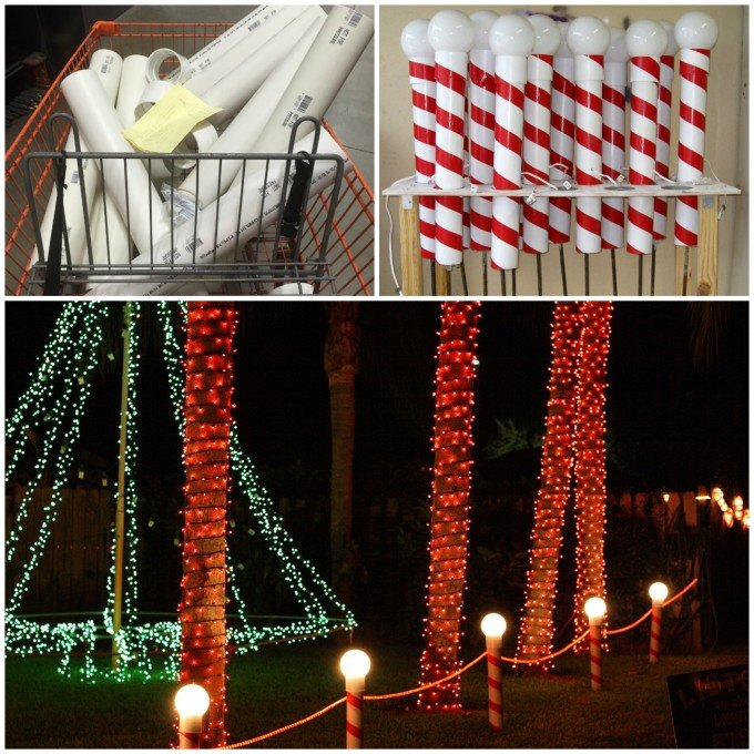 How to make North Pole Lights using PVC Pipes....over 60 of the BEST DIY Christmas Decorating Ideas!
