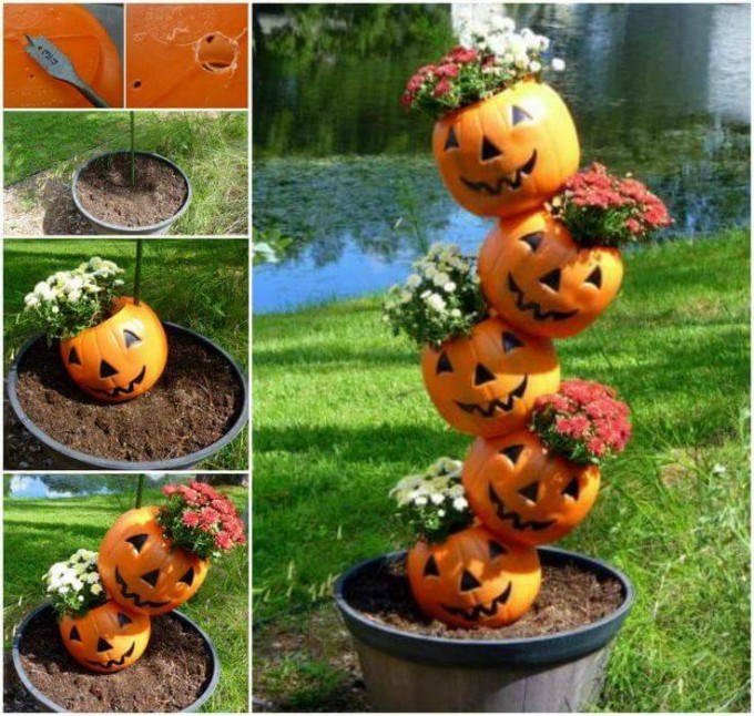 Tipsy Pumpkin Plantersthese Are The BEST Fall Craft Ideas DIY Home