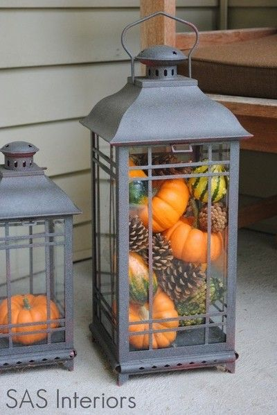 Pumpkin Lanterns...these are the BEST Fall Craft Ideas & DIY Home Decor Projects!