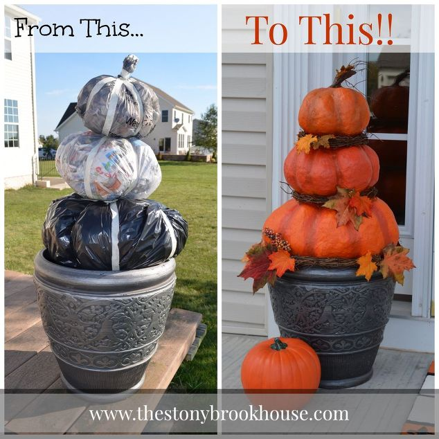cheap outdoor pumpkin topiary craftthese are the best fall crafts diy - Diy Fall Decor